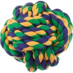 "Multipet Nuts for Knots™ 3.5"" Rope Ball Dog Toy"