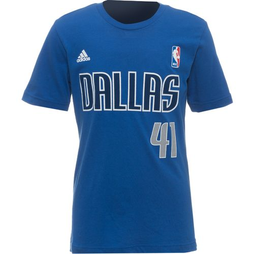 adidas™ Boys' Dallas Mavericks Dirk Nowitzki #41 Flat Game Time T-shirt