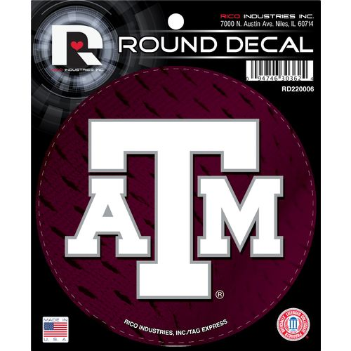 Tag Express Texas A&M University Round Decal
