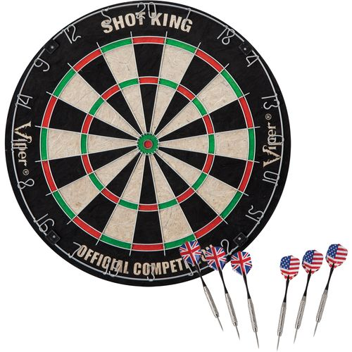 Display product reviews for GLD Shot King Bristle Dartboard