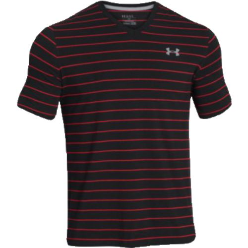 Under Armour  Men s Charged Cotton  Pinstripe V-neck T-shirt
