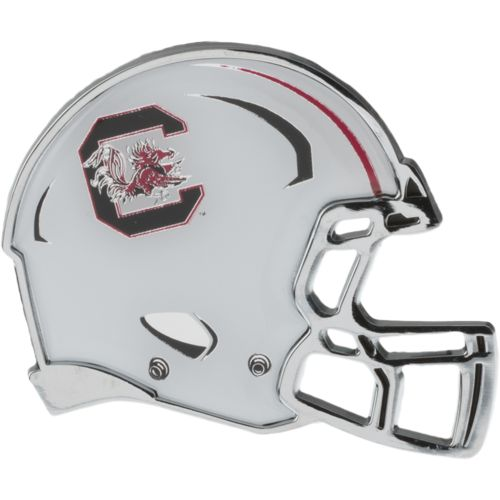 Stockdale University of South Carolina Chrome Metal Helmet Auto Emblem