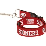 NCAA Adults' University of Oklahoma 2-Tone Lanyard - view number 2