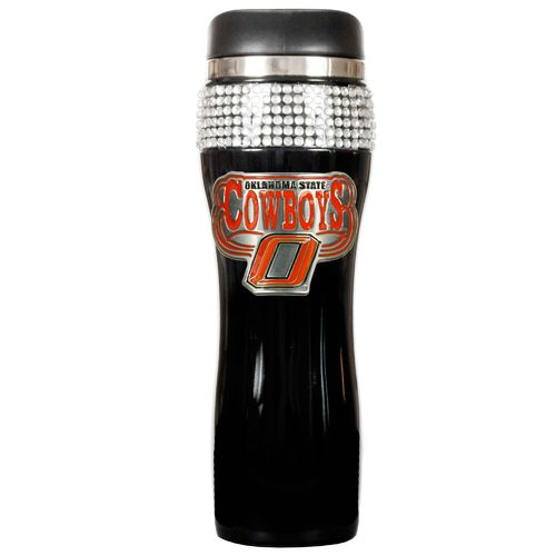 Great American Products Oklahoma State University 14 oz. Stainless-Steel Bling Tumbler