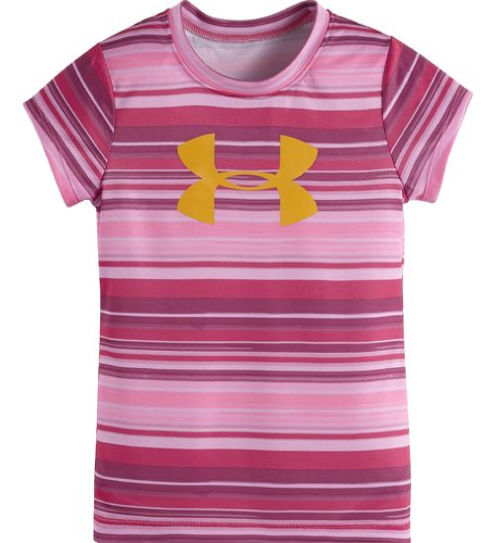 Under armour toddler girls 39 big logo short sleeve t shirt for Academy under armour shirts