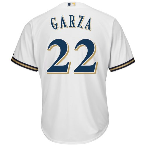 Majestic Men's Milwaukee Brewers Matt Garza #22 Cool Base® Home Jersey