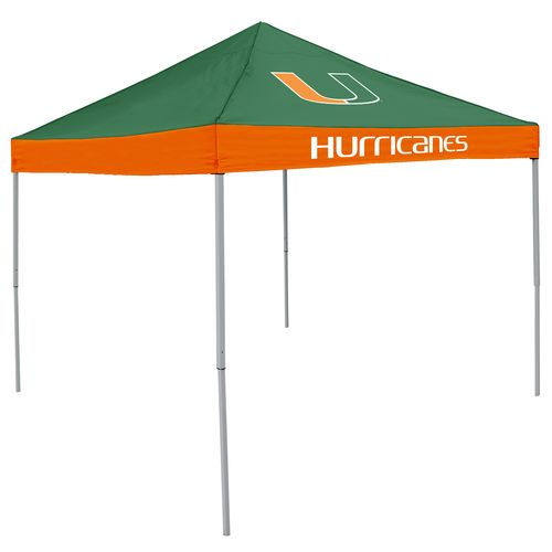 Logo University of Miami Straight-Leg 9 ft x 9 ft Economy Tent