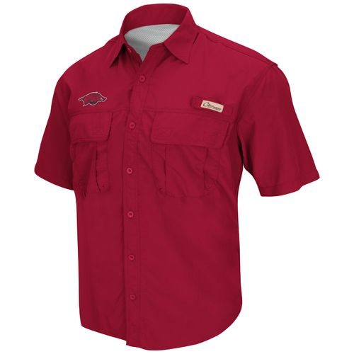 Colosseum Athletics Men's University of Arkansas Swivel Fishing Shirt