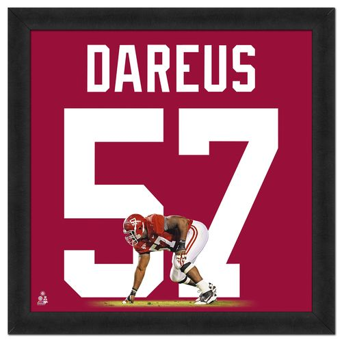 Photo File University of Alabama Marcell Dareus #57 UniFrame 20' x 20' Framed Photo
