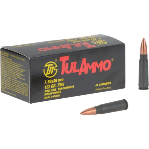 TulAmmo 7.62x39mm 122-Grain 40-round Rifle Ammunition