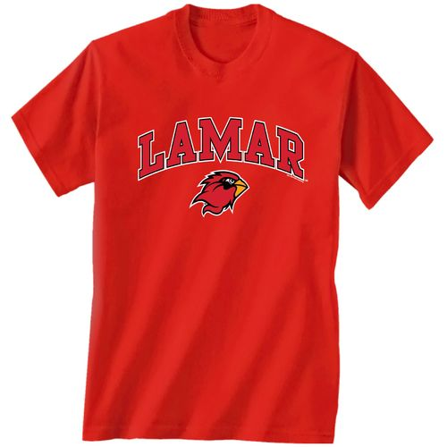 New World Graphics Men's Lamar University Arch Mascot T-shirt
