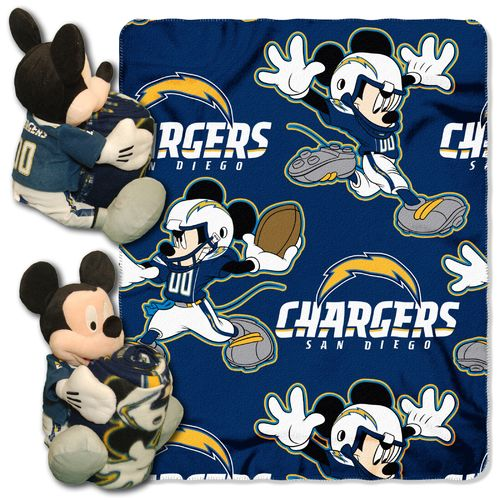 The Northwest Company San Diego Chargers Mickey Mouse Hugger and Fleece Throw Set