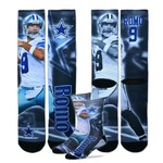 For Bare Feet Adults' Dallas Cowboys Tony Romo Tie-Dye Sublimation Socks