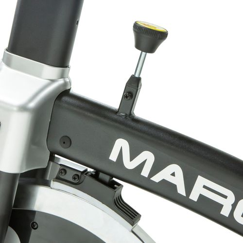 The Velocity Fitness Magnetic Recumbent Exercise Bike features a 2-way flywheel and 8 levels of resistance.