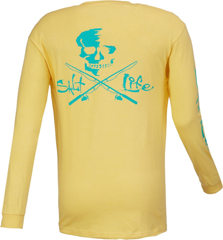 Salt life men 39 s skull and poles long sleeve t shirt academy for Salt life long sleeve fishing shirts