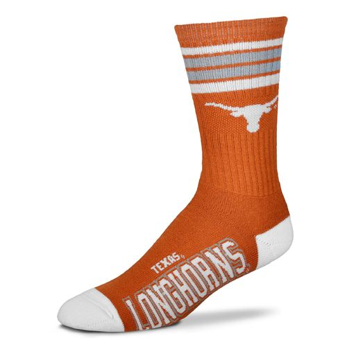 For Bare Feet Adults' University of Texas 4-Stripe Deuce Socks