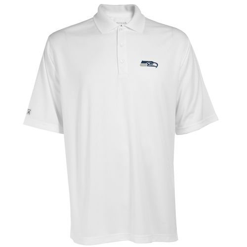 Nice Antigua Men's Seattle Seahawks Exceed Polo Shirt