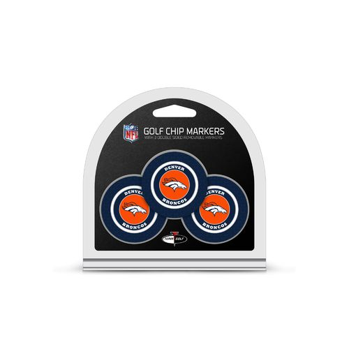 Team Golf Denver Broncos Poker Chip and Golf Ball Marker Set