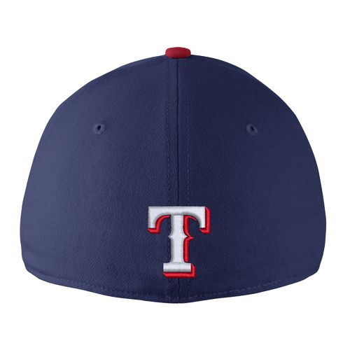 Nike™ Adults' Texas Rangers Classic Dri-FIT Swoosh Flex Cap - view number 2