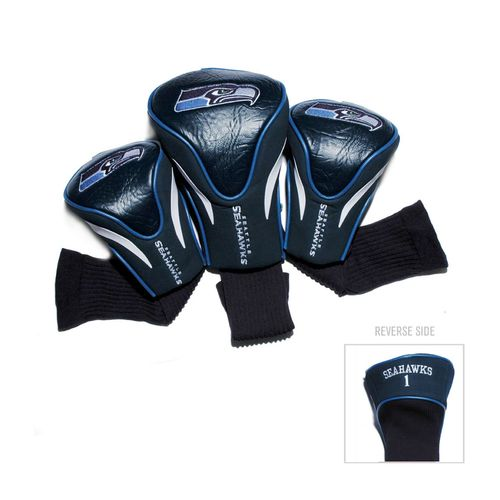 Team Golf Seattle Seahawks Contour Sock Head Covers 3-Pack