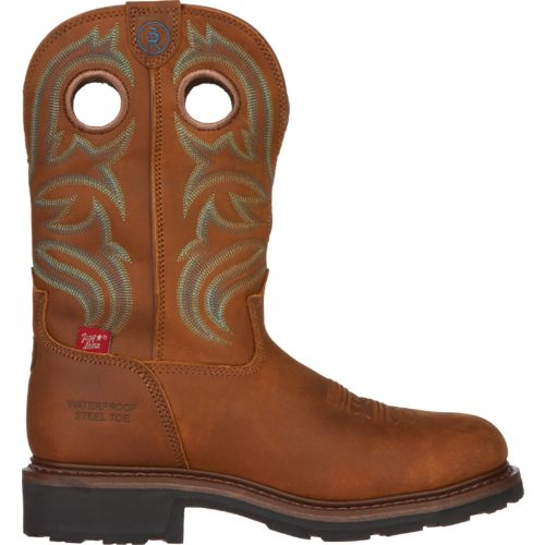 Tony Lama Men's Cheyenne Buffalo 3R Waterproof Steel Toe Work Boots