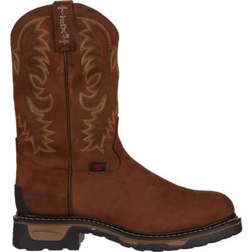 Tony Lama Men's Cheyenne TLX Waterproof Steel-Toe Western Work Boots
