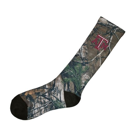 Atlanta Hosiery Company Men's Texas A&M University Realtree Camo Socks