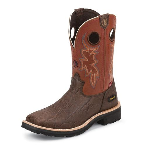 Tony Lama Men's Elephant Print 3R Composition Toe Work Boots