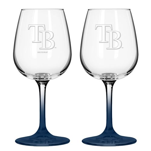 Boelter Brands Tampa Bay Rays 12 oz. Wine Glasses 2-Pack
