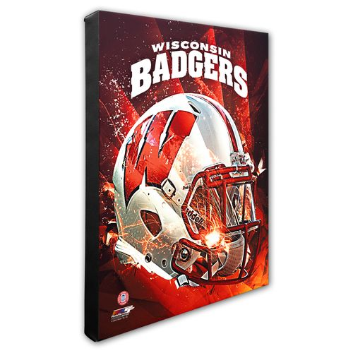 Photo File University of Wisconsin Helmet Stretched Canvas Photo