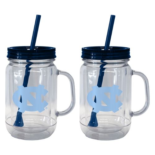 Boelter Brands University of North Carolina 20 oz. Handled Straw Tumblers 2-Pack