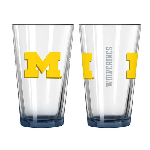 Boelter Brands University of Michigan Elite 16 oz. Pint Glasses 2-Pack