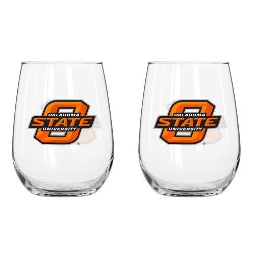 Boelter Brands Oklahoma State University 16 oz. Curved Beverage Glasses 2-Pack - view number 1