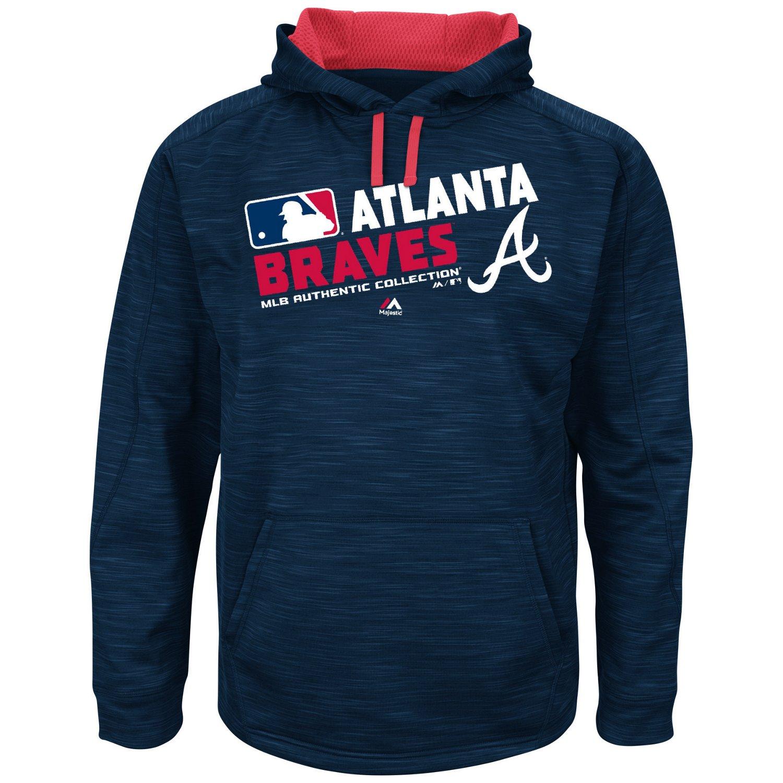 Majestic Men's Atlanta Braves On Field Streak Fleece Hoodie