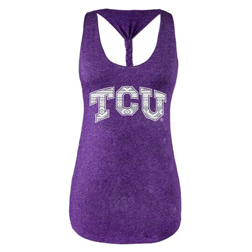 Chicka-d Women's Texas Christian University Braided Tank Top