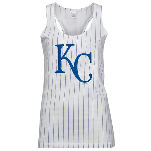 5th & Ocean Clothing Juniors' Kansas City Royals Pinstripe Tank Top