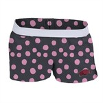 Soffe Girls' University of Arkansas Printed Authentic Low Rise Short