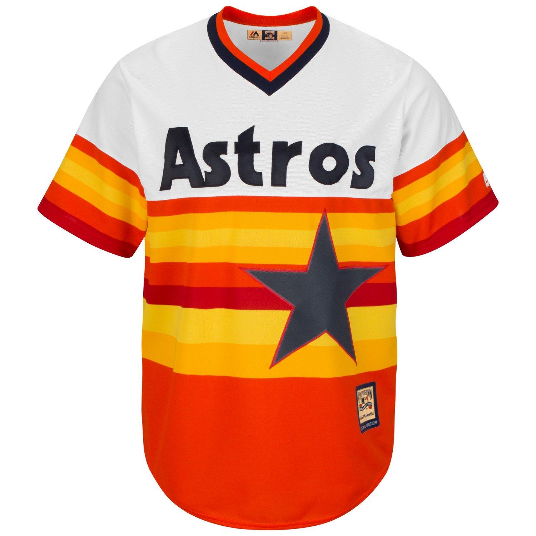 Majestic Men's Houston Astros Nolan Ryan #34 Cooperstown Cool Base 1986 Replica Jersey - view number 2