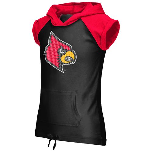 Colosseum Athletics Girls' University of Louisville Jewel Short Sleeve Hoodie