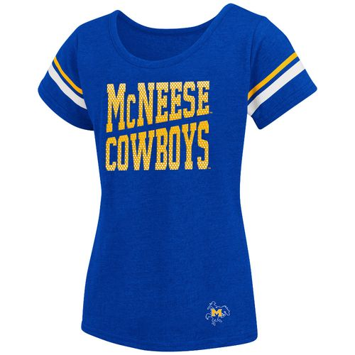 Colosseum Athletics™ Girls' McNeese State University Fading Dot T-shirt