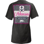 Three Squared Juniors' University of Arkansas Knotty Tide T-shirt