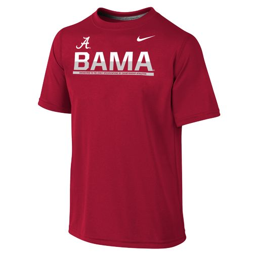 Nike Boys' University of Alabama Dri-FIT Legend Logo T-shirt