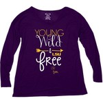 Blue 84 Women's Louisiana State University Liquid Jersey Patch Long Sleeve T-shirt