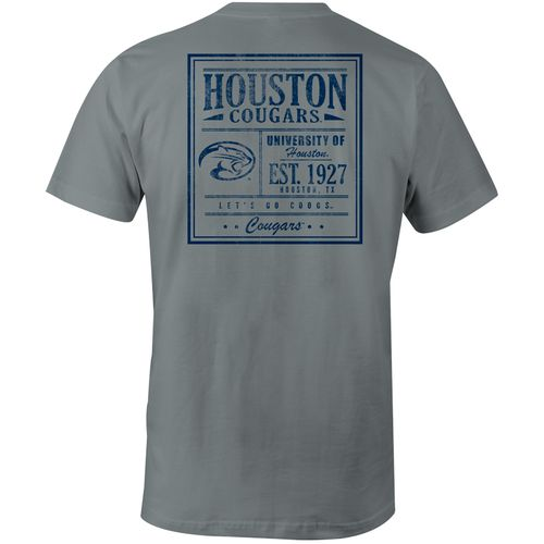 Image One Men's University of Houston Comfort Color Vintage Poster Short Sleeve T-shirt