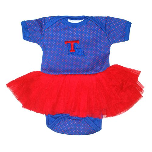 Two Feet Ahead Infant Girls' Louisiana Tech University Pin Dot Tutu Creeper