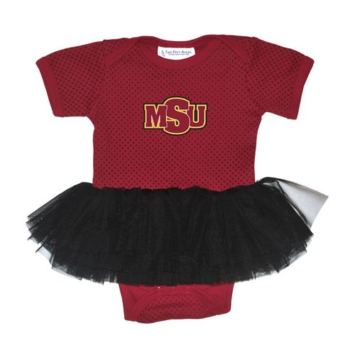 Two Feet Ahead Infant Girls' Midwestern State University Pin Dot Tutu Creeper