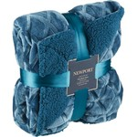 "Newport 50"" x 60"" Cloud Velvet Sherpa Throw with Socks"