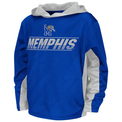 Colosseum Athletics Boys' University of Memphis Sleet Fleece Pullover Hoodie