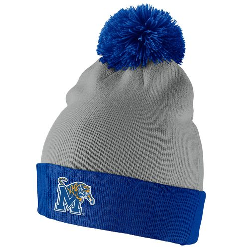 Nike™ Men's University of Memphis Big Swoosh Pom-Pom Knit Beanie
