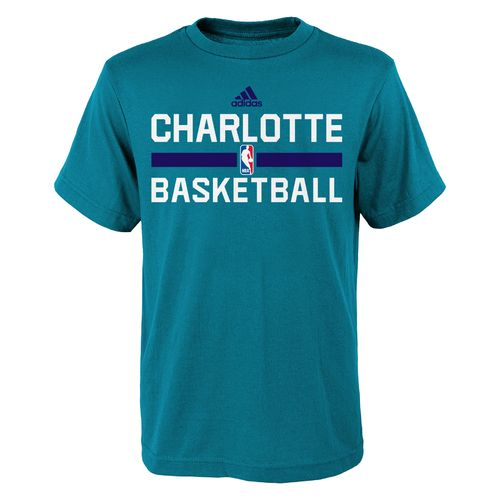 adidas Boys' Charlotte Hornets Practice Wear Graphic T-shirt